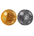litecoin gold and silver coins vector image