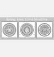 mandala doodle tattoo perfect element for vector image vector image
