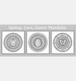 mandala doodle tattoo perfect element vector image vector image