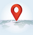 map pointer symbol on a global map flat isometric vector image