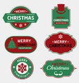 Merry christmas and happy new year badges labels vector image vector image