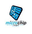 microchip design cpu information communication vector image