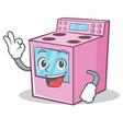 okay gas stove character cartoon vector image