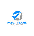paper airplane travel logo design inspiration vector image