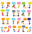 people conversation vector image