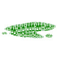 puddle mosaic of wine bottles vector image vector image
