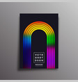 retro design poster with colorful gradient arc for vector image vector image