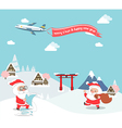 Santa claus enjoy christmas travel in asia vector image vector image