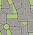 Seamless background of abstract city map vector image vector image