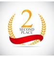 Second Place Laurel Design Label vector image vector image