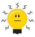 serious conceptual lightbulb icon vector image vector image