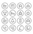 set round line icons hotel vector image vector image