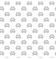 simple car automobile seamless pattern with vector image