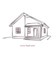 sketch individual house vector image