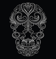 Skull Line Ornament vector image vector image