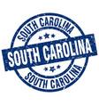 south carolina blue round grunge stamp vector image vector image