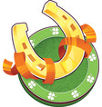 st patrick day symbol the golden horseshoe vector image vector image