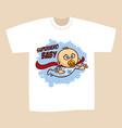t-shirt print design superhero baby boy vector image vector image
