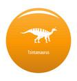 tsintaosaurus icon orange vector image