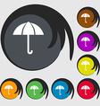 Umbrella sign icon Rain protection symbol Symbols vector image