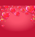valentines day background on red cute love vector image vector image