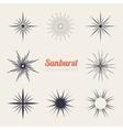 vintage sunburst design elements collection vector image