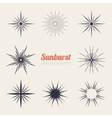 Vintage sunburst design elements collection with vector image vector image