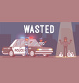 wasted in video game vector image vector image