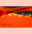 wave orange background vector image