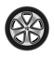 wheel or tire tyre car or automobile isolated vector image vector image