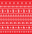 winter folk art seamless pattern christmas vector image vector image