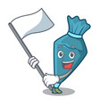 with flag pastrybag mascot cartoon style vector image vector image