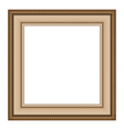 wooden frame isolated on white vector image vector image