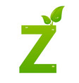 green eco letter z illiustration vector image