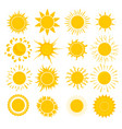 cartoon yellow sun set vector image
