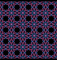 abstract geometric floral seamless pattern vector image vector image