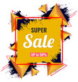 abstract super sale on modern 3d triangles and vector image