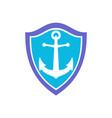 anchor ocean protection logo icon vector image
