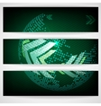 Arrow Green Background With Place For Your Text vector image vector image