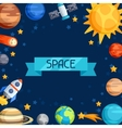 Background of solar system planets and celestial vector image vector image