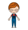 boy character isolated icon design vector image