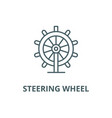 business steering wheel line icon vector image vector image