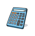 calculator on a white background vector image vector image