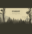 cartoon forest background vector image