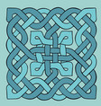 celtic blue pattern scandinavian ornament ribbon vector image