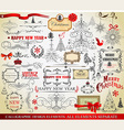 Christmas calligraphic elements vector image vector image
