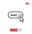 click cursor clicking send button icon vector image vector image