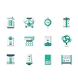 Climatic technics flat design icons set vector image vector image