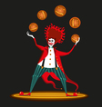 clown from hell vector image vector image