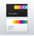 creative colorful circles clean business card vector image
